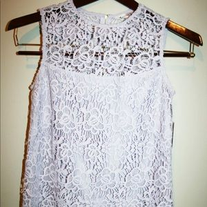 NEW Nanette Lepore Floral Crochet sleeveless Top